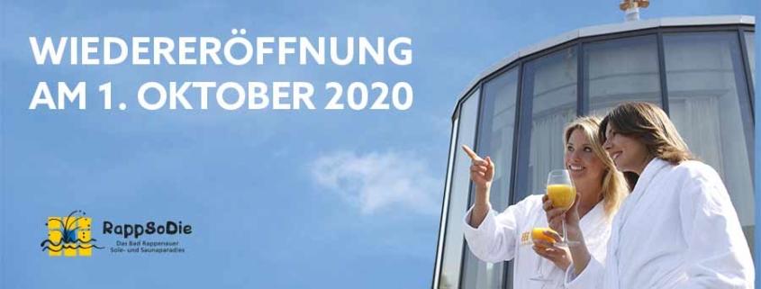 Wiedereröffnung am 1.10.2020